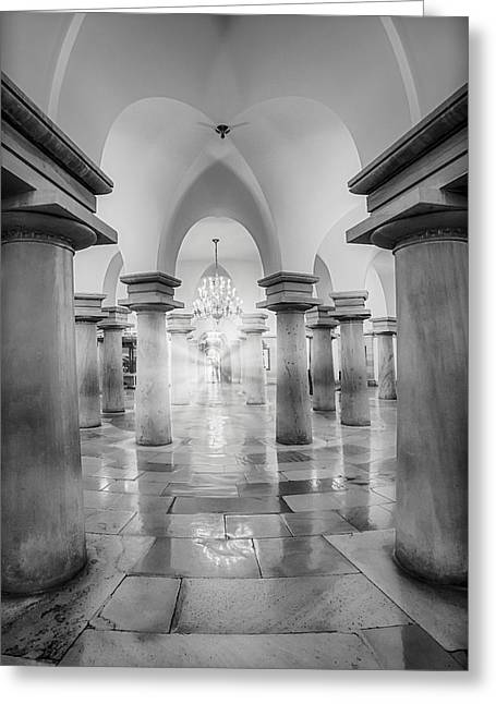 United States Capitol Crypt Greeting Card by Susan Candelario