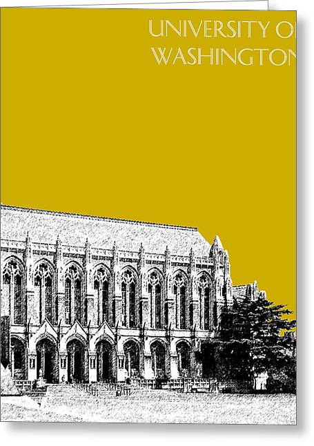University Of Washington - Suzzallo Library - Gold Greeting Card by DB Artist