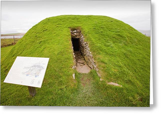 Unstan Chambered Cairn  Greeting Card by Ashley Cooper