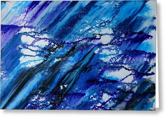 Blue Wind Greeting Card