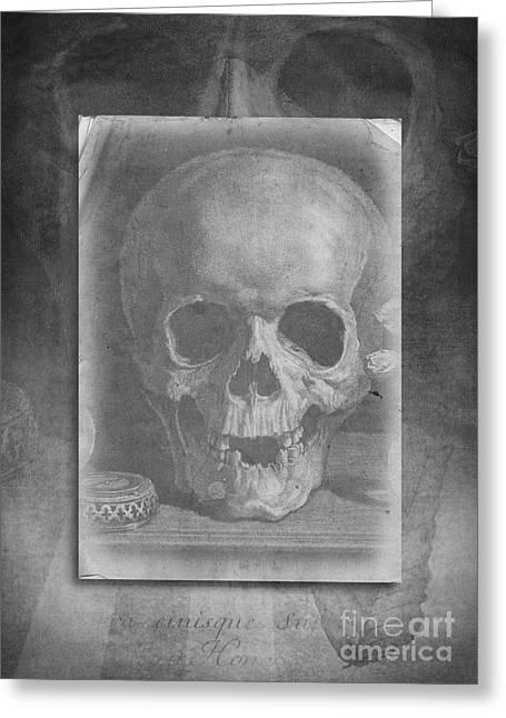 Untitled Skull Greeting Card by Edward Fielding
