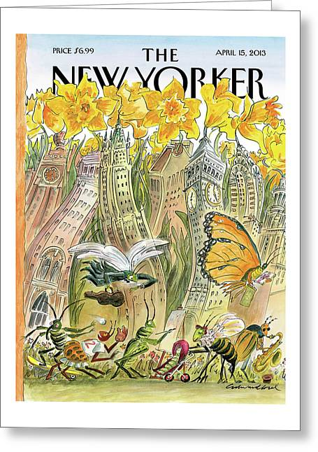 New Yorker April 15th, 2013 Greeting Card