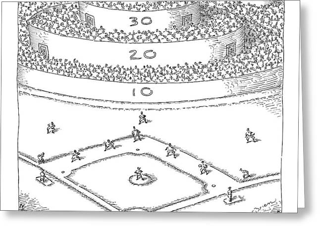 Captionless; Skeeball Baseball Greeting Card
