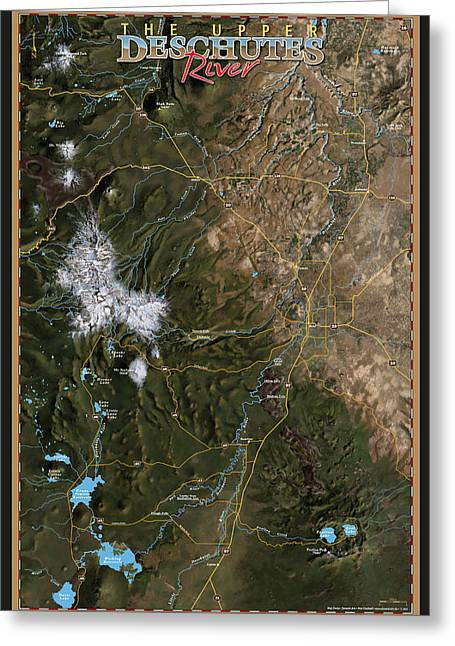 Upper Deschutes River Greeting Card by Pete Chadwell