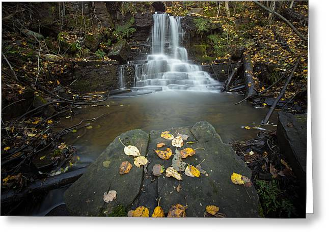Upper Little Falls Greeting Card by Jakub Sisak