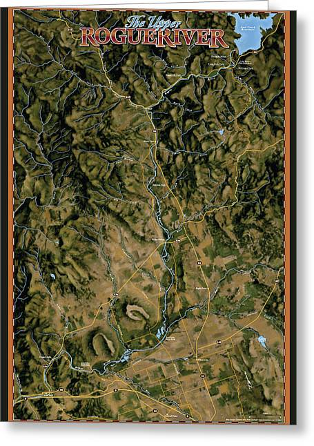 Upper Rogue River Greeting Card by Pete Chadwell