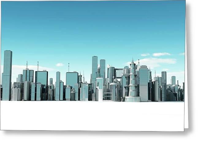 Urban Skyline Greeting Card by Sebastian Kaulitzki
