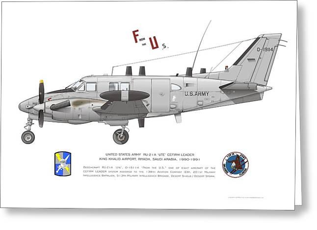 U.s. Army Ru-21a Greeting Card