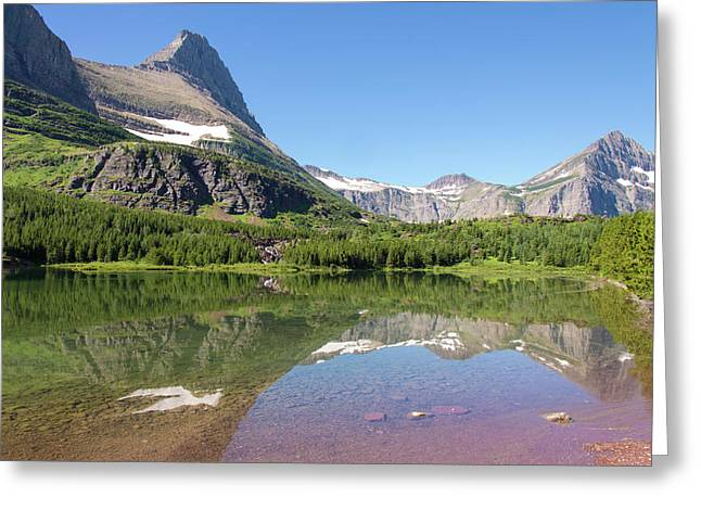 Us, Mt, Glacier National Park Greeting Card by Trish Drury