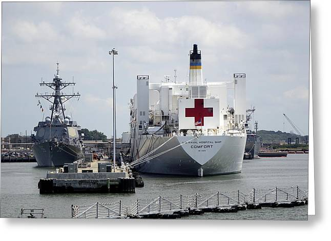 Us Naval Hospital Ship Comfort Greeting Card