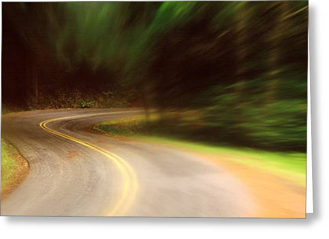 Usa , California, Marin County, Road Greeting Card by Panoramic Images