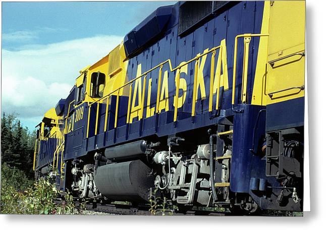 Usa, Alaska, Alaska Railroad, Denali Greeting Card