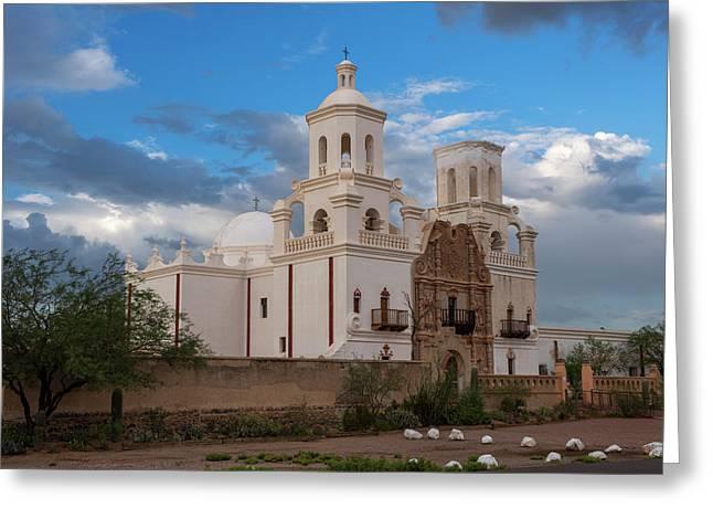 Usa, Arizona, Tucson, Mission San Greeting Card by Peter Hawkins