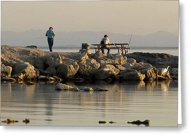 Usa, California, Salton Sea Greeting Card by Luc Novovitch