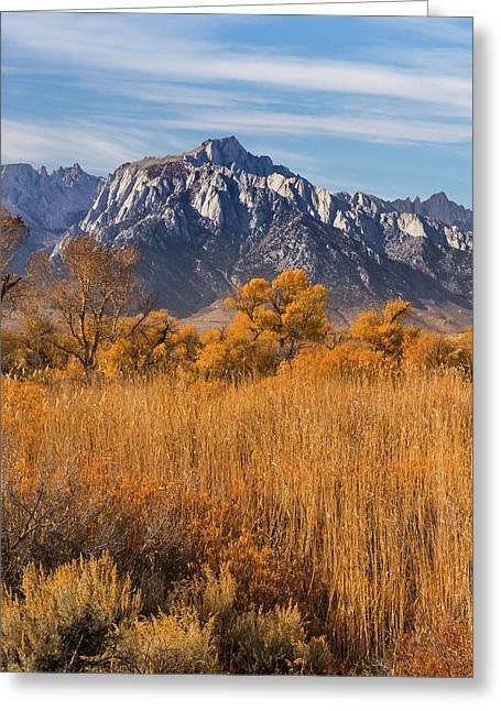 Usa, California View Of Lone Pine Peak Greeting Card by Jaynes Gallery