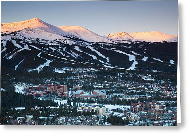 Usa, Colorado, Breckenridge, Elevated Greeting Card