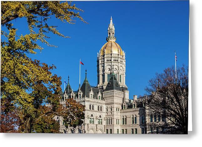 Usa, Connecticut, Hartford Greeting Card