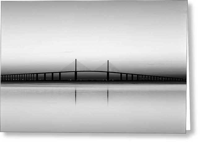 Usa, Florida, Sunshine Skyway Bridge Greeting Card