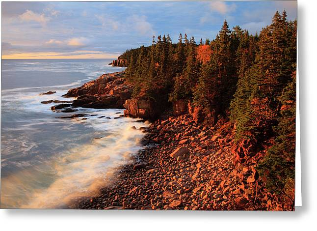 Usa, Maine, Acadia National Park, Ocean Greeting Card by Joanne Wells