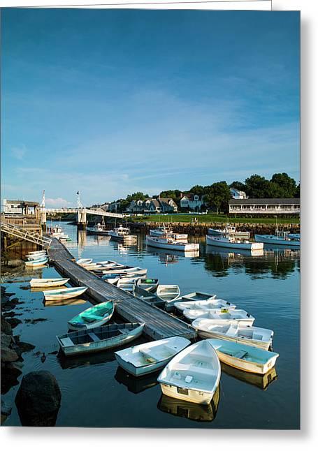 Usa, Maine, Ogunquit, Perkins Cove Greeting Card by Walter Bibikow