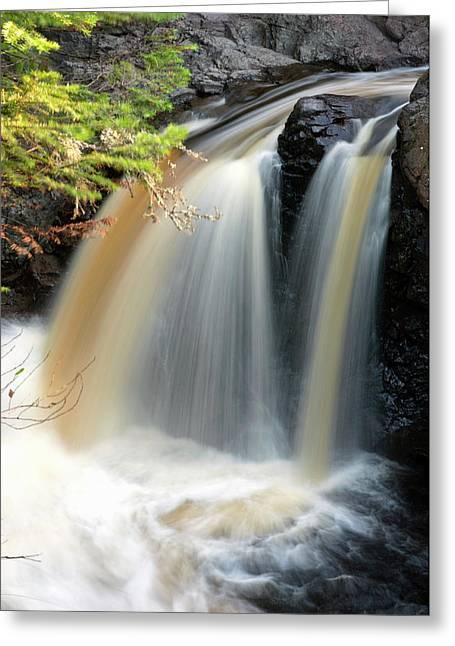 Usa, Minnesota, Lutsen, Cascade River Greeting Card by Peter Hawkins