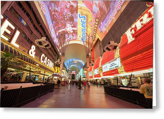 Usa, Nevada Fremont Street Experience Greeting Card