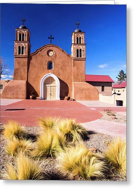 Usa, New Mexico, Socorro, Mission San Greeting Card
