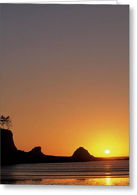 Usa, Oregon, Astoria, Sunset, Sunset Greeting Card by Gerry Reynolds