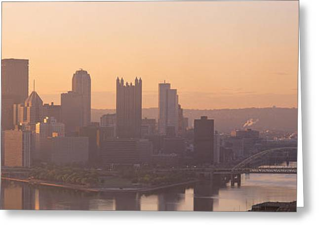 Usa, Pennsylvania, Pittsburgh Greeting Card by Panoramic Images