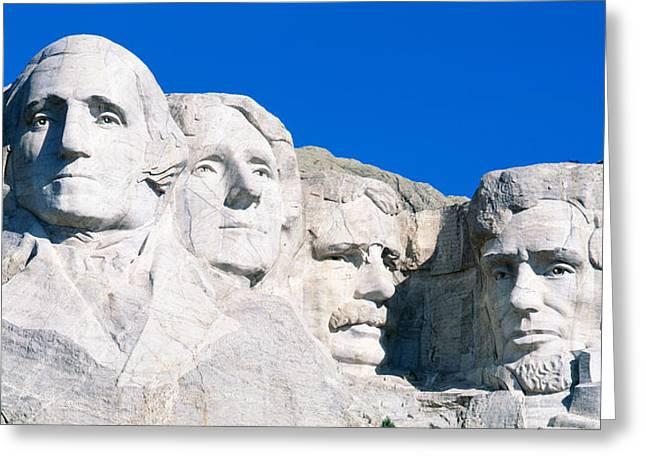 Usa, South Dakota, Mount Rushmore Greeting Card