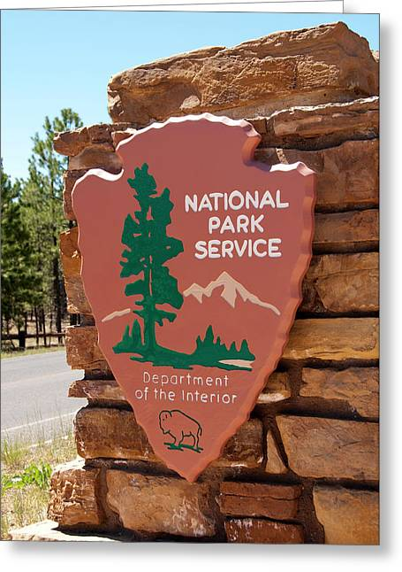 Usa, Utah, Park Service Signage Greeting Card