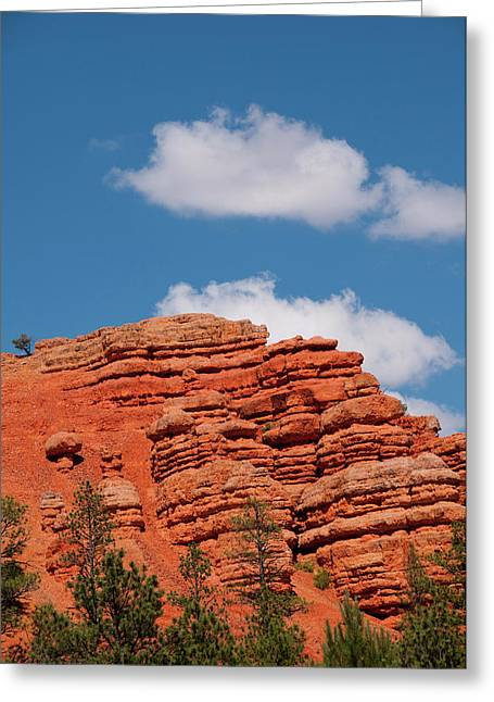 Usa Utah, Red Canyon In Dixie National Greeting Card