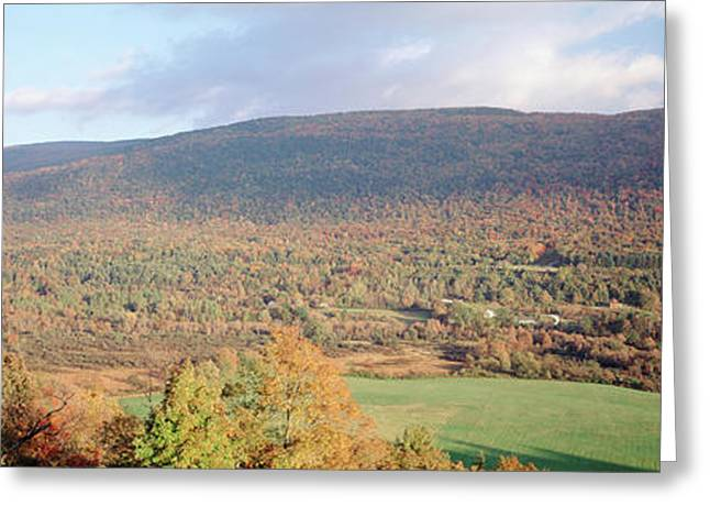 Usa, Vermont, Manchester, Autumn View Greeting Card by Walter Bibikow