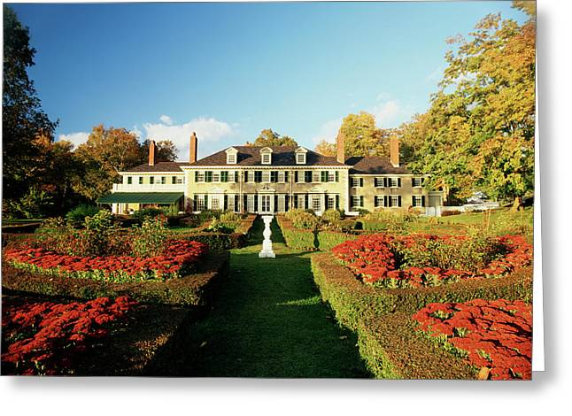 Usa, Vermont, Manchester, Hildene Home Greeting Card by Walter Bibikow
