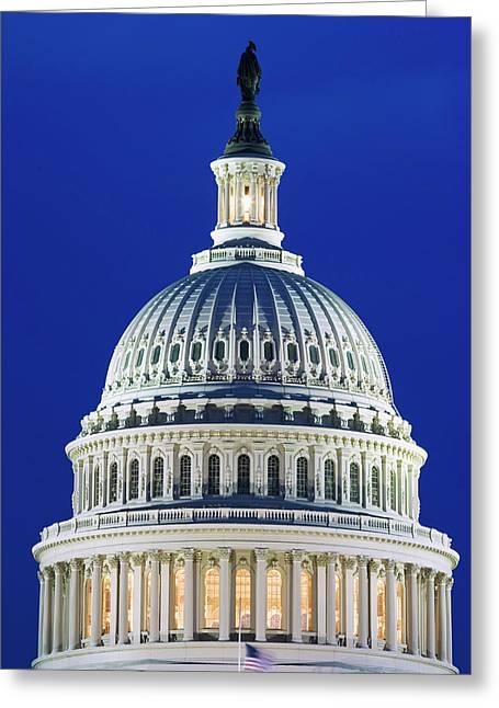 Usa, Washington, D Greeting Card by Jaynes Gallery