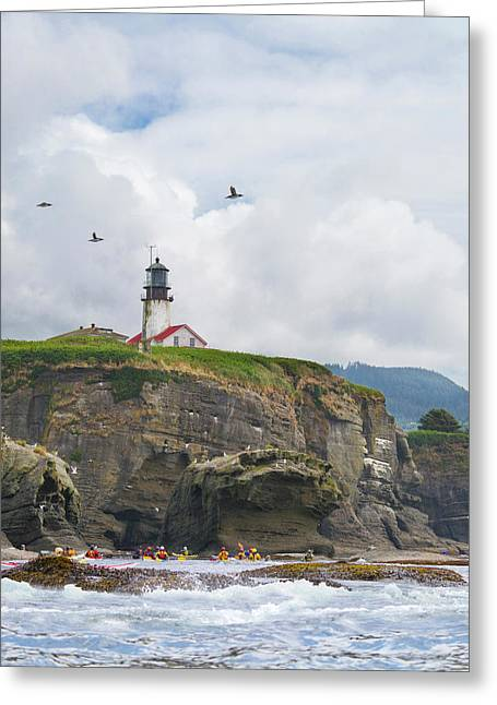 Usa Washington State Sea Kayakers Greeting Card by Gary Luhm