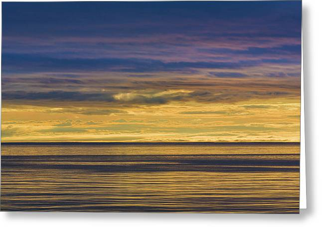 Usa, Washington Sunrise On Strait Greeting Card by Jaynes Gallery