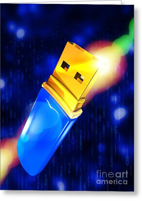 Usb Memory Stick Greeting Card by Victor Habbick Visions