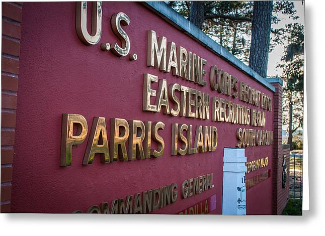 Marine Recruit Depot Greeting Card