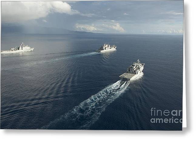 Usns Matthew Perry, Uss Pearl Harbor Greeting Card