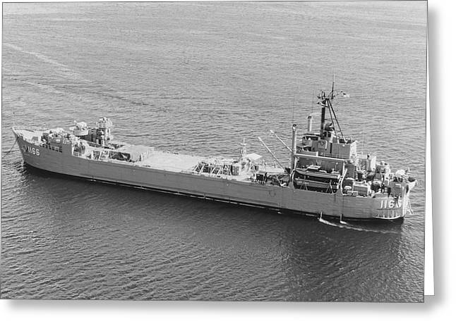Uss Washtenaw County Moored In Subic Greeting Card by Stocktrek Images