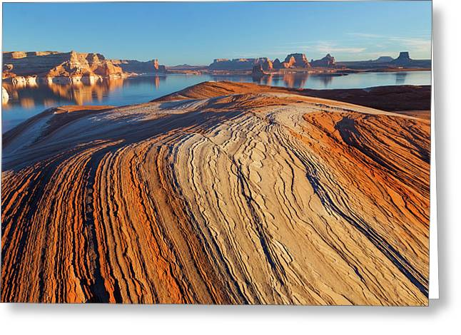 Utah Weathering Pit Ridge At Lake Greeting Card