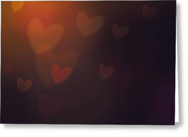 Valentines Background Greeting Card by Mythja  Photography