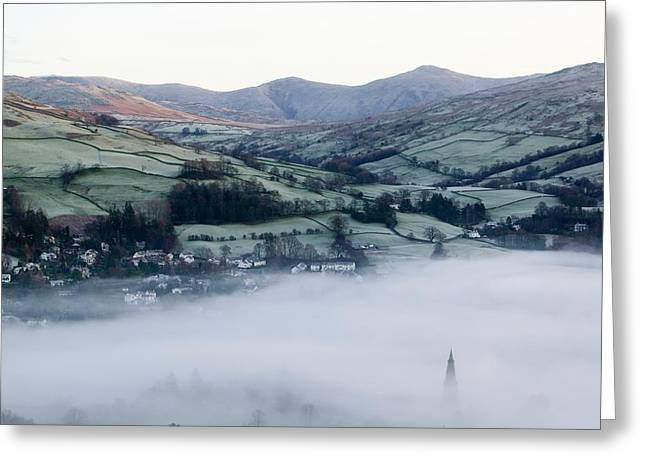 Valley Mists Greeting Card by Ashley Cooper
