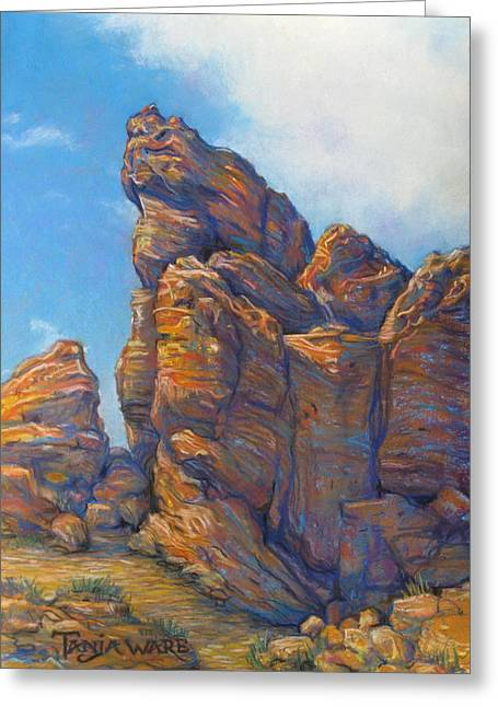 Valley Of Fire Greeting Card by Tanja Ware