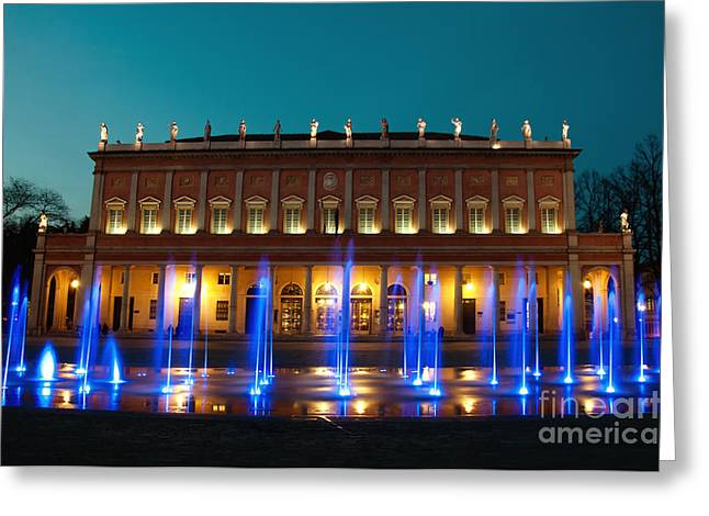 Valli Theater In Reggio Emilia - Italy Greeting Card by Eddy Galeotti