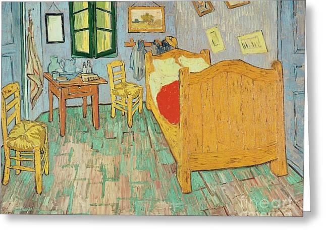 Van Goghs Bedroom At Arles Greeting Card by Vincent Van Gogh