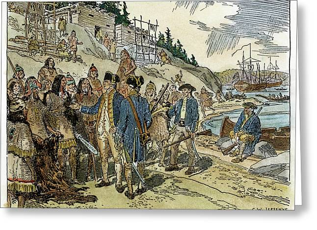 Vancouver Island, 1778 Greeting Card