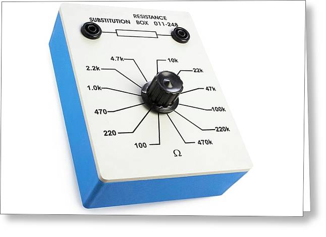 Variable Resistance Box Greeting Card by Science Photo Library