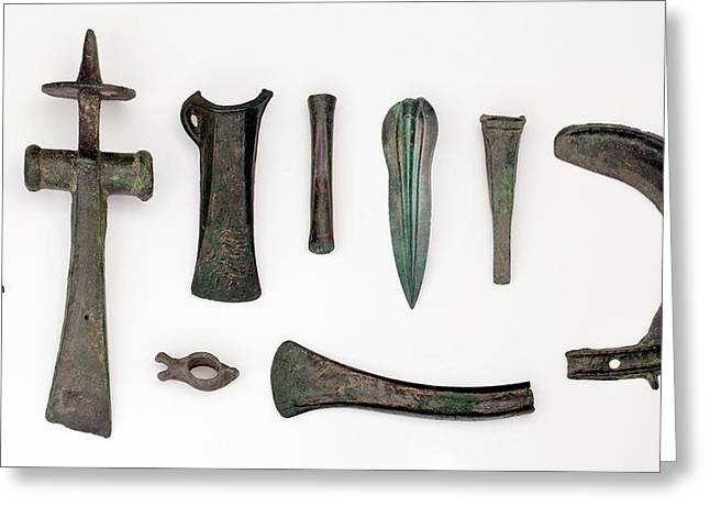 Variety Among Bronze Age Tools Greeting Card by Paul D Stewart